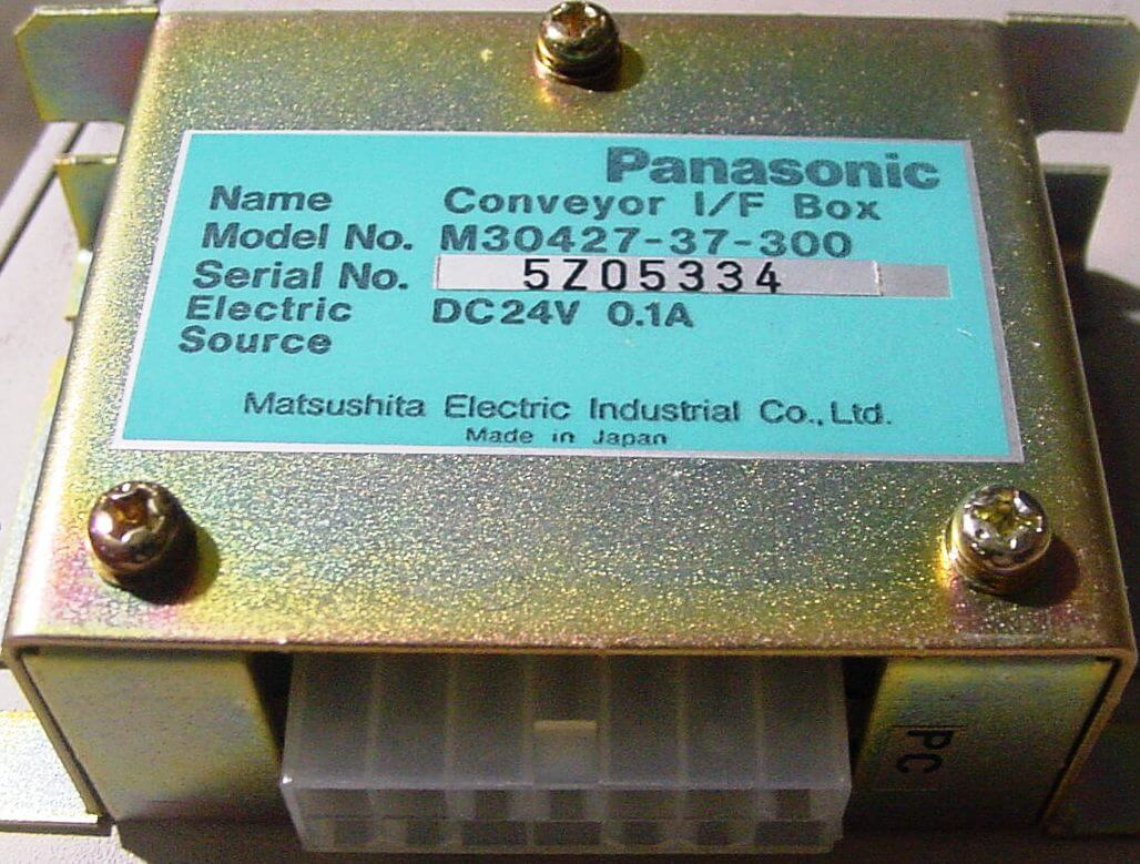 Panasonic Conveyor I/F Box (PN: M30427-37-300)