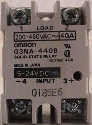Omron Solid State Relay (PN: G3NA-440B): click to enlarge