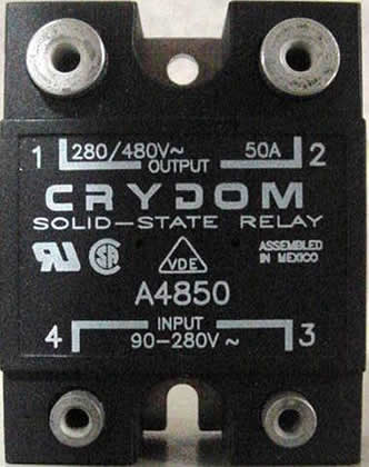 Crydom Solid State Relay (PN: A4850): click to enlarge