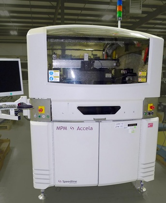 Speedline MPM Accela Screen Printer: click to enlarge